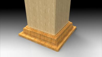 Deck post ring CAD model rendered
